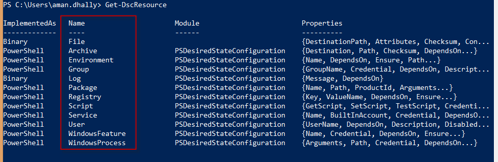 PowerShell Tip : Finding all DSC Resources