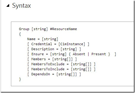 How to Use Windows PowerShell Desired State Configuration Group Resource.